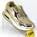 Детские модные кроссовки золотые Clibee Румыния 32-37