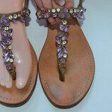Кожаные сандали Vero Cuoio р. 39 по стельке 25,5 см