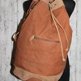 Marlboro прочный кожаный рюкзак/сумка натуральная кожа ткань