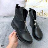 Женские высокие ботинки деми кожа натуральная