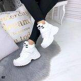 Женские кроссовки, сникерсы танкетка