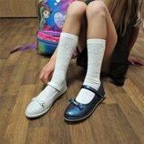 Школьные туфли в дырочку девочкам, р. 32-37. Сменка