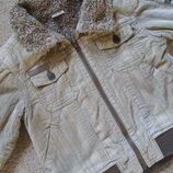 Стильная куртка вельвет на меху 3-4г