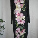 Элегантное новое платье с принтом орхидеи wallis 16p