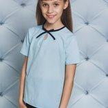 Блузка футболка школьная для девочек три цвета
