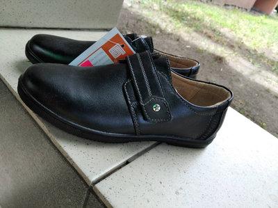 Туфли кожаные школьные, школьные туфли Kangfu 32..34.35.36,черные туфли для мальчика