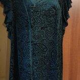 Шикарная Фирменная новая красивая блуза изумрудного цвета р. 18-22.