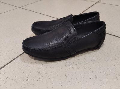 Школьные туфли для мальчика, школьные туфли, мокасины черны 18 см