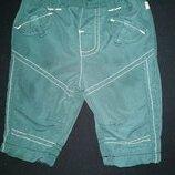 Утеплённые штаны зелёного цвета 50 размера