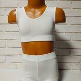 Комплект шорты майка топ для танцев и спорта.