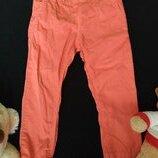 Фирменные Легкие штаны Mayoral 92 размера ало-оранжевого цвета