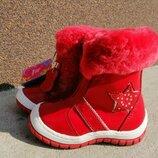 Распродажа Зимние кожаные ботинки для девочек