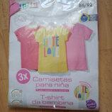 -Новый нбор футболок 3шт на девочку р.86-92, Lupilu