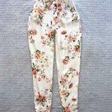 Штаны брюки джоггеры на резинке zara цветы купить цена