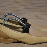 Элегантные комбинированные кожаные туфли - лоферы пастельной расцветки Medicus Германия 38 1/2 р.