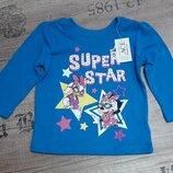 Реглан Super Star для девочки 6-9 мес.