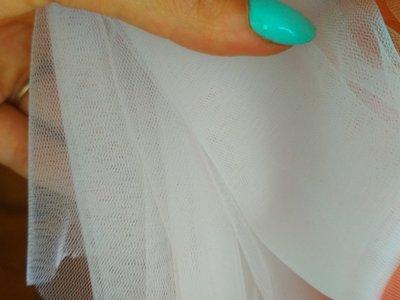 Фатін персик і білий