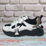 Женские кожаные кроссовки в стиле Balenciaga