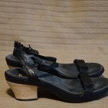 Ажурные черные кожаные босоножки Camper Extraordinary Crafts Испания 38 р. 25 см.