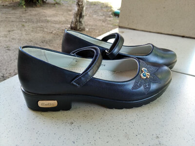 Школьные туфли для девочки, синие школьные туфли 21 см