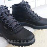 Кожаные зимние ботинки Ecco mers