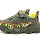 Кросівки для хлопчика Туреччина Хакі Розміри 26-35