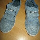 Новые на липучке джинсовые мокасины,кеды , р 36,37,38,39