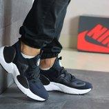 Кроссовки мужские Nike Air Huarache темно синие 8203