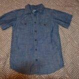 Джинсовая рубашка мальчику Rebel на 7-8 лет рост 128 в идеале