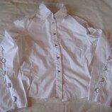 Белая рубашка со стильным декором, м и л
