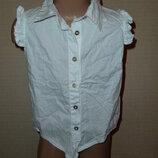Lee Cooper Белая рубашка, белая блузка на 7-10 лет, хлопок, в отличном состоянии