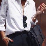 Женская белая рубашка хлопок