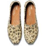 Женские эспадрильи TOMS Burlap Leopard р. 40 26 см Оригинал
