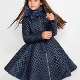 Детское пальто утепленное осеннее 122-152 см.