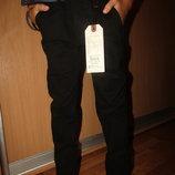 Джинсы коттоновые штаны брюки с поясом черные школа 146,164, Венгрия