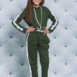 Спортивный костюм для девочек с лампасами три цвета