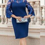 Красивое платье батл с гипюром кружевом