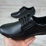 Мужские кожаные мокасины Van Kristi 210 ч/к