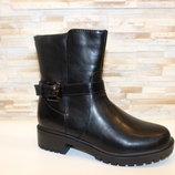 Ботинки женские черные Д597