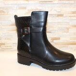 Ботинки женские черные Д598