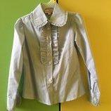 Рубашка блуза 116 Malena голубая