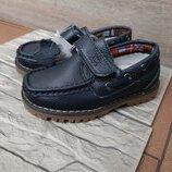 Кожаные туфли мокасины на мальчика 26-31