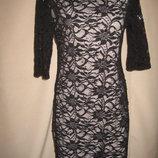 Кружевное платье E-vie р-р14,