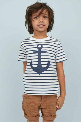 Костюм на мальчика H&M шорты и футболка Якорь