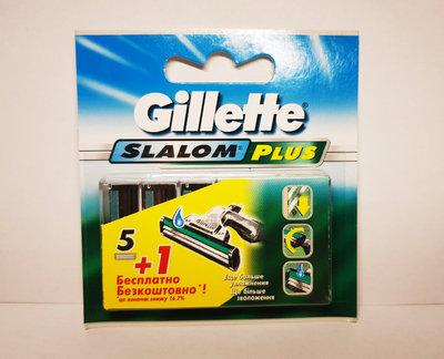 Gillette Slalom plus слалом плюс Кассеты 5 плюс1 шт., лезвия для бритвы оригинальные