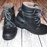 Зимние кожаные ботинки для мальчика , размер 36 22,5 см