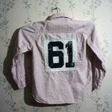 Рубашка рост 134 LOGG Бангладеш девочка мальчик хлопок котон