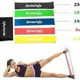 Набор резинок для фитнеса 5шт чехол