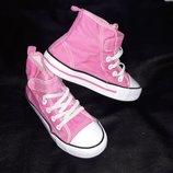 ш Кеды кроссовки высокие кеды ботинки обувь H&M 17 см.