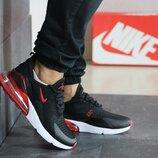 Кроссовки мужские Nike Air Max 270 черные с красным 41-46р